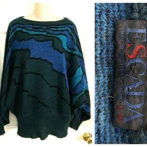Vintage 80s Beautiful Escada Dolman Sweater Sz. 38